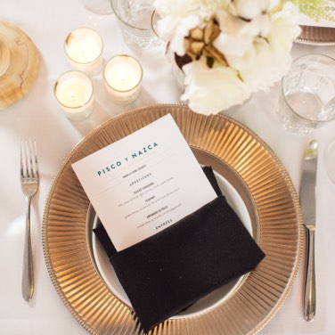 Table Setting with Menu