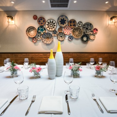 Private dining table setting.
